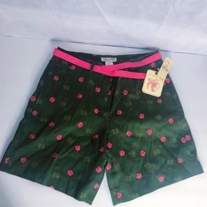 TROPICAL JUMBLE BELTED SHORT